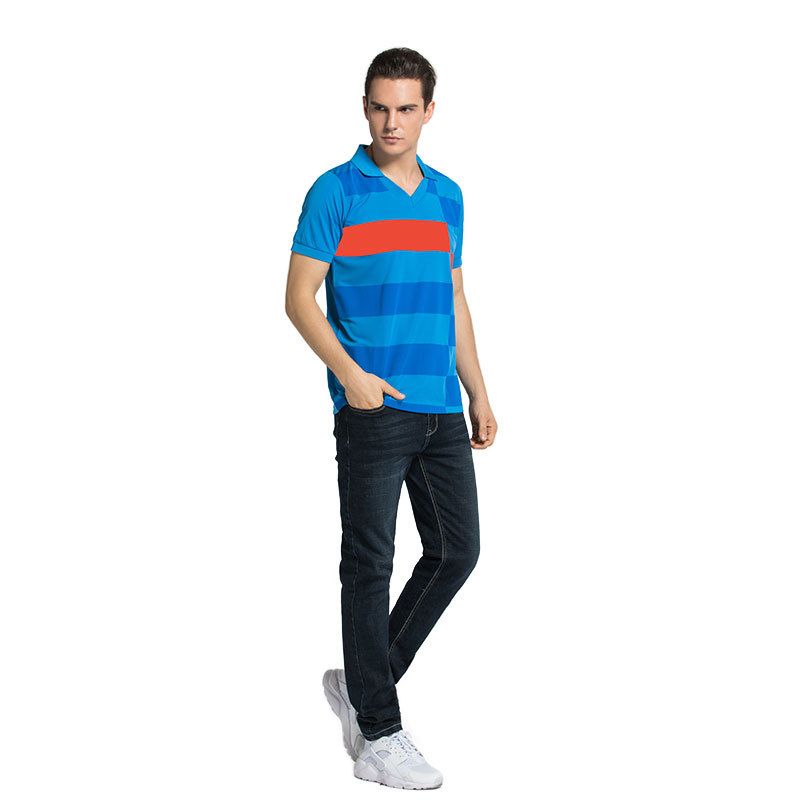 PoloT-Shirt Mens Casual 100% Cotton striped Short Sleeve in china
