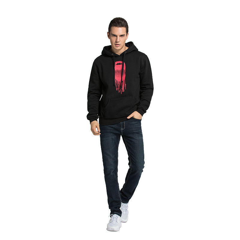 Pullover Hoodie Mens Printed logo 65% cotton 35% Polyester Hooded Sweatshirts