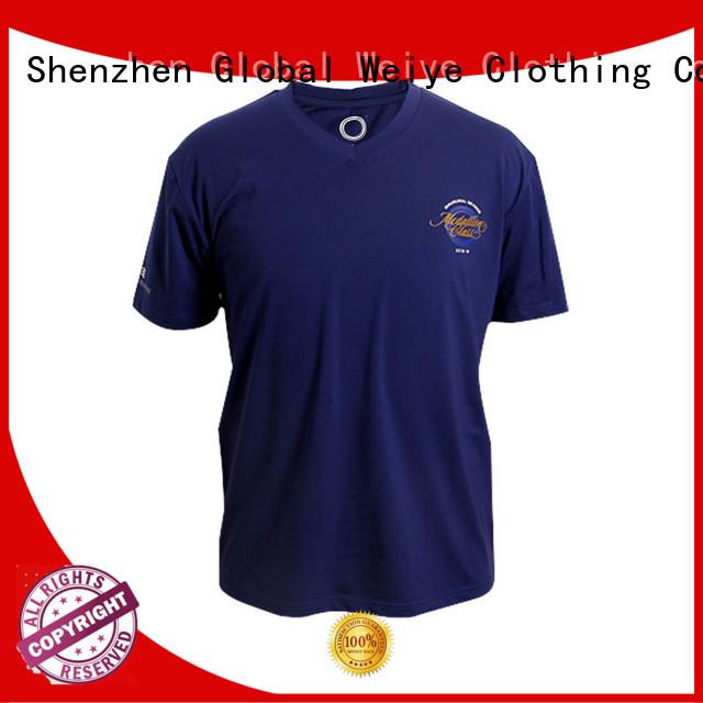 mens Custom standard quality mens t shirts design Global Weiye