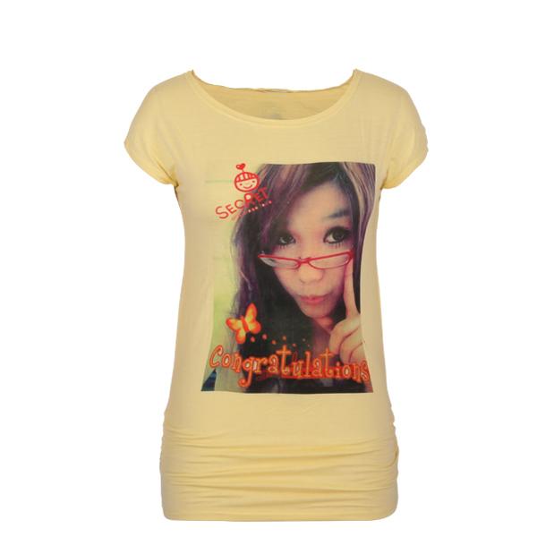 yellow t shirt Casual Custom Design