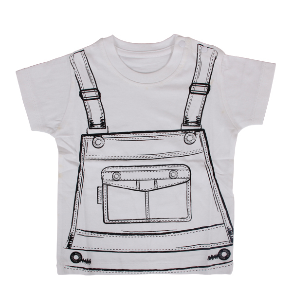 White cartoon new fashion dress for boy