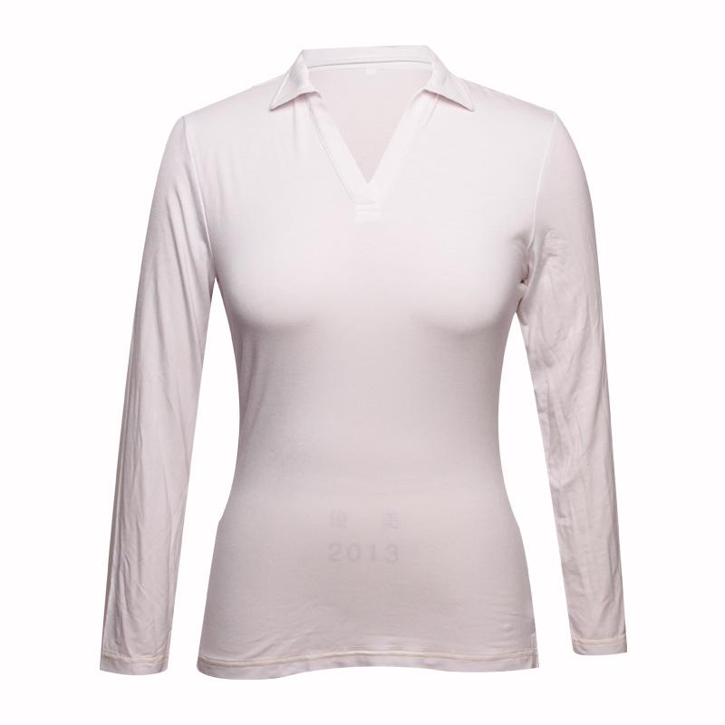 ladies long sleeve polo shirts V neck