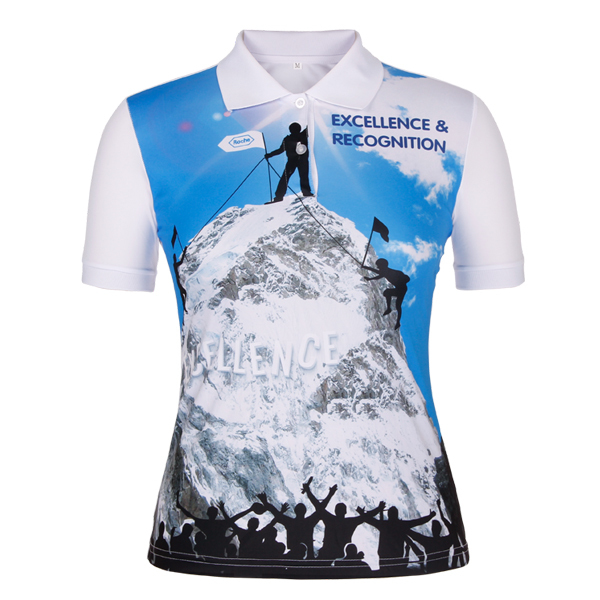 ladies polo with full sublimation logo