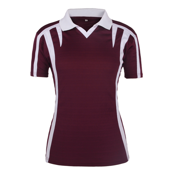 brown polo with white collared shirt womens