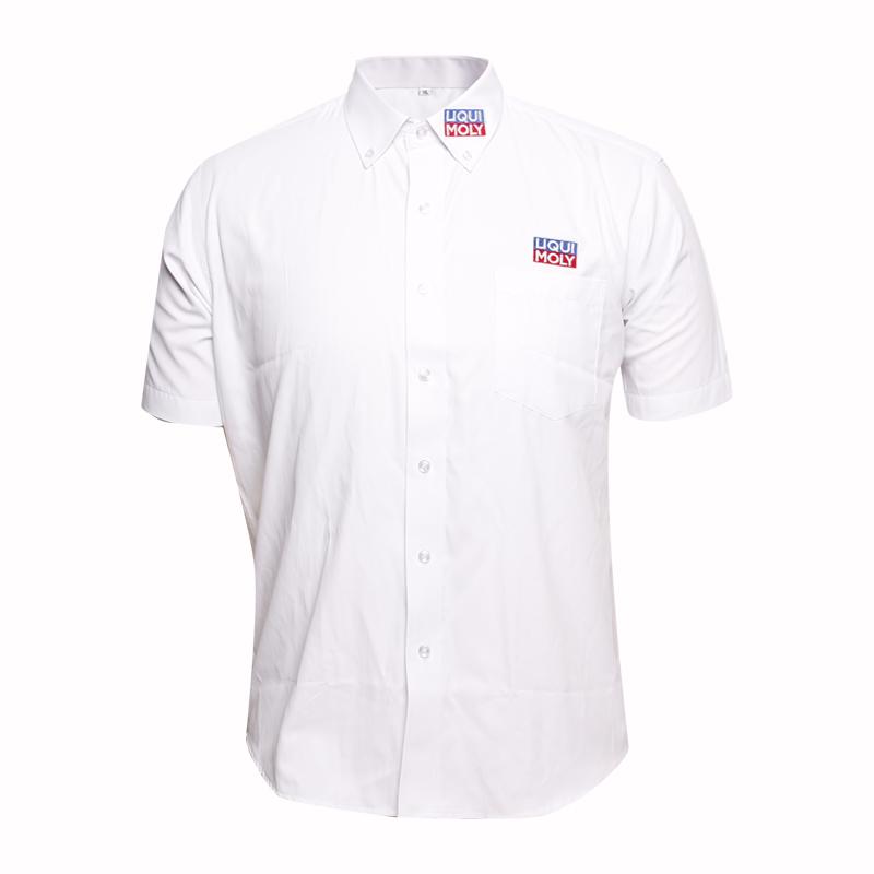 New Design Short Sleeve Men Blouse for Office Wear