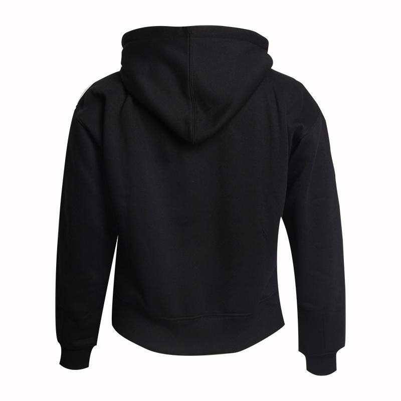 Black Hoodie Custom  60 Cotton 40 Polyester With Fleece