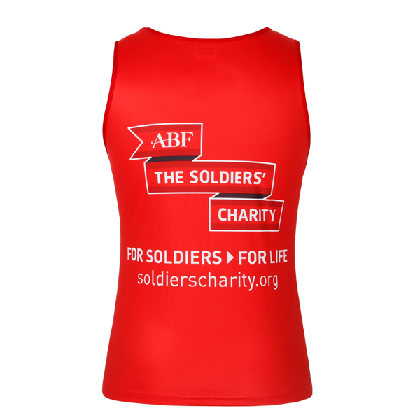 100% polyester printed red tank top